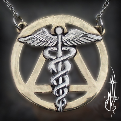 Caduceus of Fire Amulet